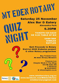 Team Get Together Invitation Mt Eden Rotary Quiz Night Rotary Club Of Highbrook