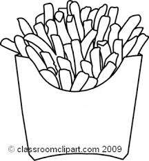 french fries clipart black and white. Unique Clipart French Fry Black And White Clipart 1 On Fries WorldArtsMe