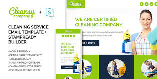 Cleaning Service Templates Cleansy Cleaning Service Purpose E Mail Template By Ide46