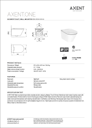 axent one shower toilet