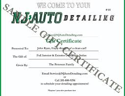 a car suv or motorcycle detailing gift certificate today and make someone smile every time they get in and out of their clean vehicle