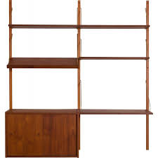 vintage teak wall unit with a desk and
