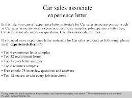 resume for car sales associate how to write a resume for a sales associate position