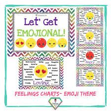 Feelings Chart Emoji Teacher Resource Feelings Charts Emoji Theme The Teacher Hero