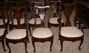 queen anne dining room table and chairs. queen anne dining room furniture set of 10 burl walnut antique chairs ideas table and b