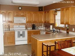 Small Picture kitchen with grey walls and brown cabinets Design advice on