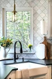 arabesque tile bathroom wall white beveled kitchen backsplash
