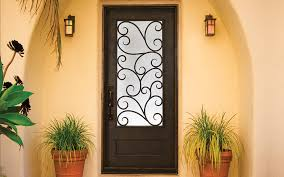 an iron exterior door