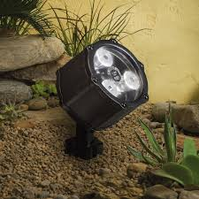 kichler lighting 15733azt led accent light 3 light low voltage 60 degree wide flood light textured architectural bronze with clear tempered glass kichler