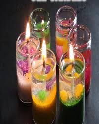 details of ma traders pack of 3 decoration gel candles