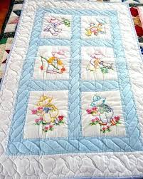 Stamped Embroidery Baby Quilt Kits Free Embroidered Baby Quilt ... & Machine Embroidery Baby Quilt Labels Embroidery Baby Quilt Block Patterns  Hand Embroidery Baby Quilt Kits Amish Adamdwight.com