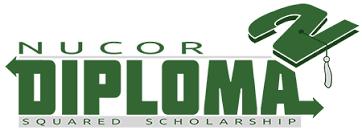 nucor diploma squared scholarship logo
