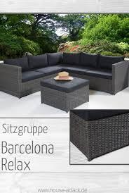 Lc Garden Loungeecke Sitzgruppe Barcelona Relax Grau Mix In 2019