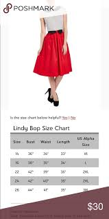 Lindy Bop Size Chart Lindy Bop Red White Emmy A Line Dress Nwt Stay Cool And
