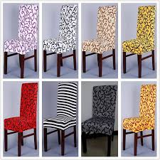 1 piece sure fit soft stretch spandex pattern chair covers for kitchen chair short dining chair cover purple grey chagne