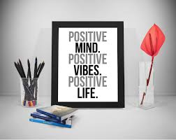 Positive Mind Quotes Fascinating Positive Mind Printable Quotes Positive Vibes Sayings Etsy