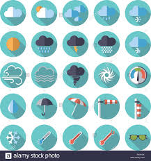 Google Flat Design Icons Collection Of Weather And Climate Related Flat Design Icons
