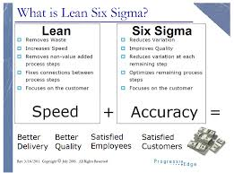Six Sigma And Lean Bringing Speed And Accuracy To Business