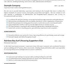 Resume Hospitality Resume Cover Letter Template Australian News