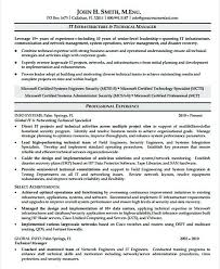 Senior It Manager Resume Template It Infrastructure Manager Resume