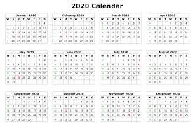 12 Months 2020 Calendar 2020 12 Months Calendar Printable Monthly Calendar