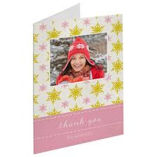 snowflake thank you cards falling snowflakes thank you cards folded cards personalized cards