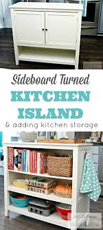 Kitchen Sideboard Sideboard Turned Kitchen Island Wayfair Hack Mom 4 Real
