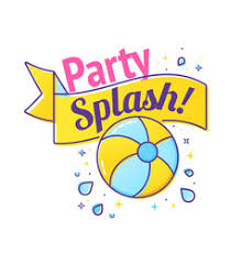 pool splash vector.  Pool Pool Party Label With Inflatable Ball And Splash Vector  Intended Splash Vector