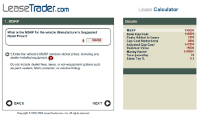 Car Lease Calculator Free Software Download