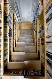 creative storage solutions. staircase design with book storage creative solutions