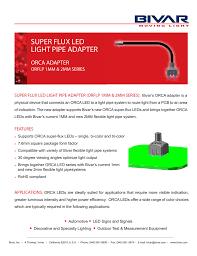 Bivar Flexible Light Pipe Super Flux Led Light Pipe Adapter