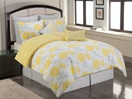 image of yellow and grey bedding twin