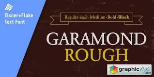 Download Garamond Garamond Rough Pro Family 5 Fonts Free Download Vector
