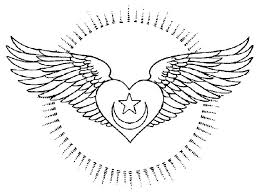 Heart With Wings Coloring Pages Color Bros