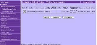 new voter registration