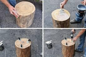 wood stump furniture. DIY Tree Stump Side Table | Wood Furniture