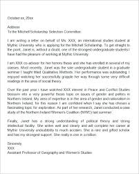Sample Scholarship Letters Of Recommendation How To Write A Letter