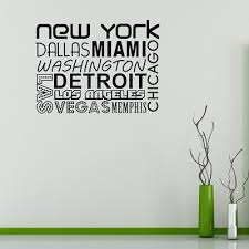 olivia home supply new york vinyl wall sticker quote city names decal poster wallpaper on city names wall art with qoo10 olivia home supply new york vinyl wall sticker quote city