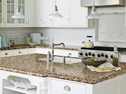 Brown Granite Kitchen Countertops Kitchen Luxurious Arch Faucet For Wood Kitchen Countertops
