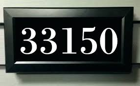 lighted led address sign signs calgary numbers solar house number o14