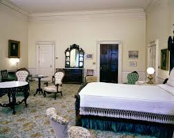 Attractive View Of The Lincoln Bedroom, White House, Washington, D.C. Portraits Of  Abraham Lincoln (far Right) And Andrew Jackson (left) Hang On Wall.