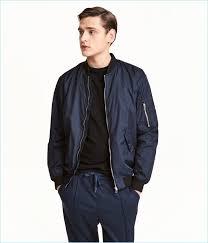 h m turns out an essential men s er jacket in dark blue