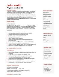 ... A expertly laid out physics teacher curriculum vitae example.