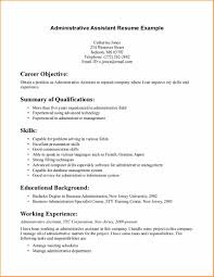 Entry Level Admin Resume 24 Career Objective Examples For Administrative Assistant Basic 24