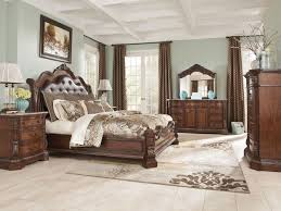 bedroom sets with marble tops stylish ashley furniture b705 ledelle queen king sleigh bed frame