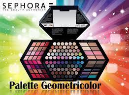dels about sephora palette geometricolor make up palette eyeshadows blushes eyeliners