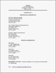 Resume Reference Format Free Templates Reference Page For Resume