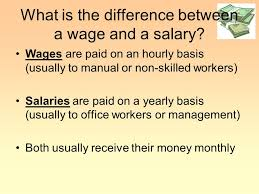 Office Salary What Is The Difference Between A Wage And A Salary Ppt Video