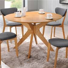 Contemporary Round Dining Table Balboa Modern Round Dining Table In Oak Eurway