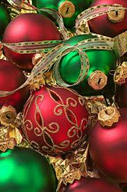 Rot Grün Christbaumschmuck Traditionelle Weihnachts Farben